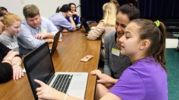 Student-led conferences with digital portfolios photo
